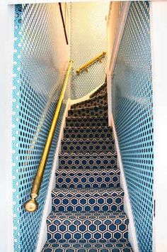 Jonathan Adler- You would probably get a headache if you had to go up and down the staircase several times a day, but I like it anyway