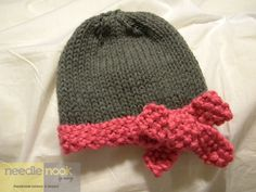 The Slouchy Bow Hat/Beanie - You Chose the Color. $26.00, via Etsy.