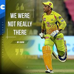 MS Dhoni reacted after another CSK defeat which meant they now have to win their remaining games and hope for other results to go in their favor.