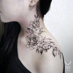 The Rose Neck Tattoo Kat Abdy Is Soft And An Ideal Girl Tattoo within measurements 1080 X 1080 Shoulder Neck Tattoos - Trying to find shoulder tattoo Best Neck Tattoos, Cool Shoulder Tattoos, Neck Tattoos Women, Girl Neck Tattoos, Shoulder Tattoos For Women, Body Art Tattoos, Sleeve Tattoos, Collar Bone Tattoos, Tattoo Women