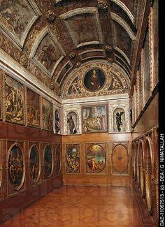 Small study of Francesco I, work by Giorgio Vasari 1511_1574. Palazzo Vecchio, Florence. Italy, 16th century.