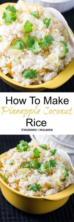Looking for a great coconut recipe? I love making coconut rice and now wanted to… Looking for a great coconut recipe? I love making coconut rice and now wanted to show you How to Make Coconut Pineapple Rice. Coconut Pineapple Rice Recipe, Coconut Rice, Coconut Recipes, Rice Recipes, Side Dish Recipes, Asian Recipes, Dinner Recipes, Cooking Recipes, Healthy Recipes
