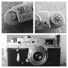 Zorky 4, one of my favorite Soviet rangefinder camera, I love its design and materials. This camera was built in 1967,  50 years after the Russian revolution, this is what the logo means.