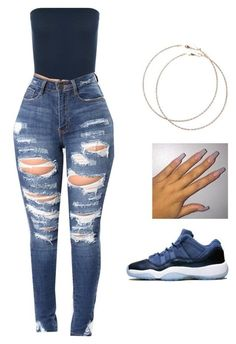 A fashion look from October 2017 featuring white ripped jeans and Wet Seal. Browse and shop related looks. Baddie Outfits Casual, Boujee Outfits, Swag Outfits For Girls, Cute Swag Outfits, Teenage Girl Outfits, Cute Comfy Outfits, Girls Fashion Clothes, Teen Fashion Outfits, Dope Outfits