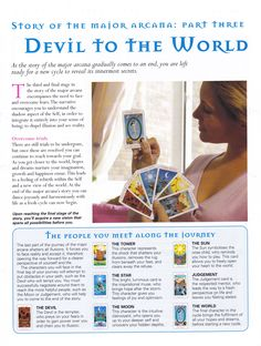Story of the Major Arcana Devil to World