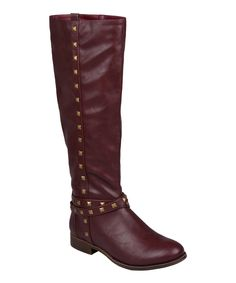 b06ead0ef96 Bordeaux Erie Studded Boot by Brinley Co.  zulily  zulilyfinds Stylish Boots