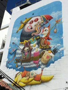 by Dulk - New wall - for Periplo Festival - Puerto de la Cruz, Tenerife (Canary Islands, Spain) - 20.09.2014