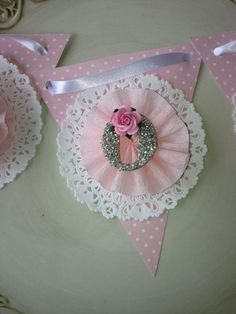 Shabby Chic Mom Banner Mother's Day Decoration by JeanKnee on Etsy