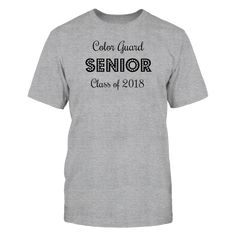 Color Guard SENIOR Class of 2018 T-Shirt, 100% Printed in the U.S.A - Ship Worldwide Tag: color guard, Flag Toss, Guardies, colorguard, Winter Guard  ,  Available Products:          Gildan Unisex T-Shirt - $24.95 Gildan Women's T-Shirt - $25.95 Gildan Unisex Pullover Hoodie - $47.95 Gildan Long-Sleeve T-Shirt - $32.95       . Buy now => https://www.fanprint.com/url-color-guard-senior-class-of-2018?ref=2502