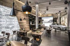 Client: Mercedes Benz Location: Hamburg Design: KTP Kauffmann Theilig & Partner Year: 2014 #interior #mercedes_benz #design #showroom #Hamburg