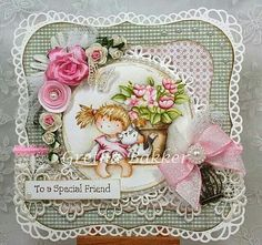 Create a stunning card for a special friend - Stamp & Scrapbook EXPO Scrapbook Expo, Scrapbooking Layouts, Scrapbook Cards, Easy Paper Crafts, Paper Crafting, Cards For Friends, Friend Cards, Paper Cards, Kids Cards
