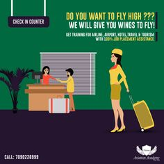 Do You Want To Fly High ??? We Will Give You Wings To Fly!! Get Training for Airline, Airport, Hotel,Travel & Tourism With 100% JOB Placement Assistance  Call: 7090226999  #Airline #Hotel #Travel #Airport #cabincrew #FlightAttendant