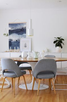 simple and gorgeous dining room