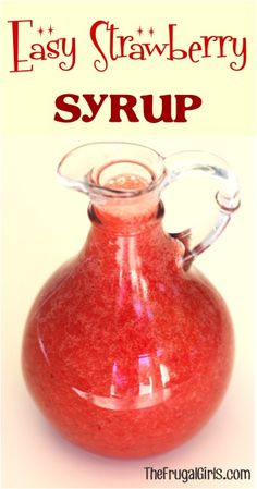 Easy Strawberry Syrup Recipe - This syrup, made in the blender with fresh strawberries, is SO delicious and the perfect topping for your pancakes or ice cream! Fresh Strawberry Syrup Recipe, Strawberry Recipes, Fruit Recipes, Recipes With Frozen Strawberries, Fruit Syrup Recipe, Coulis Recipe, Strawberry Pancakes, Strawberry Sauce, Blender Recipes