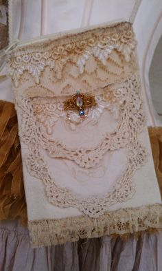Vintage Lace Shabby Chic Romantic Small Bag by LeFrenchLaundry, $25.00