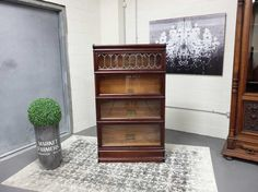 Antiques By Design - Mahogany Leaded Glass Stacking Barristers Bookcase