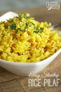 This stovetop rice pilaf with orzo is the perfect side dish for any meal. Whips up just as fast as the boxed stuff but tastes so much better!