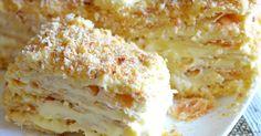 Home Napoleon - a recipe that never failed! Ukrainian Recipes, Russian Recipes, Baking Recipes, Cake Recipes, Dessert Recipes, Food Cakes, Sweet Desserts, Sweet Recipes, Tatyana's Everyday Food