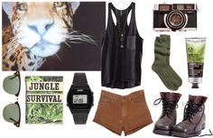 """Contest - Safari Outfit"" by poisoned-blood ❤ liked on Polyvore"