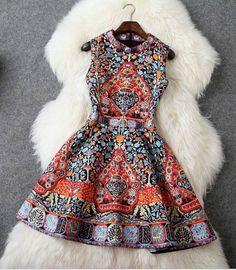 Fashion Print Party Dresses