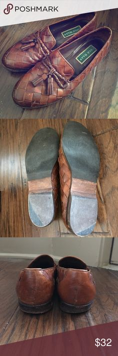 Women's Cole Haan Shoes In used but good condition. A little worn but a lot of life left. Made in Brazil! The bottom of the shoe lists 8.5 as seen in the pictures. Cole Haan Shoes Flats & Loafers