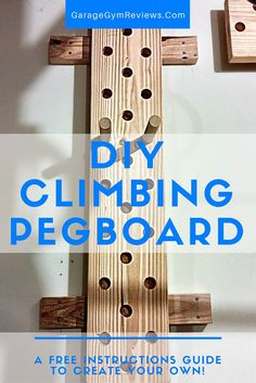 Create your own DIY Climbing Pegboard for less than $35!  Easy instructions and a similar pegboard as the one used in the 2015 CrossFit Games!