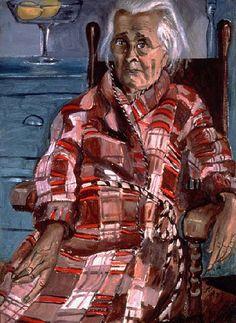 "Alice Neel - ""Last Sickness"" (1952-53). A portrait of Neel's mother shortly before her death in 1954."