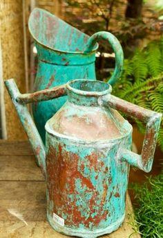 Patina Watering cans