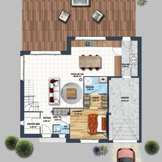 Découvrez cette Maison contemporaine mezzanine Carnac ! Depreux Construction vous accompagne dans votre projet immobilier.