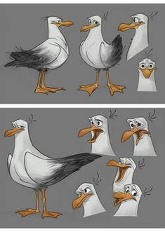 ttnet seagull-early design and facial by ~ahmettabak on deviantART – Character Design Bird Drawings, Animal Drawings, Drawing Faces, Cartoon Styles, Cartoon Art, Character Modeling, Character Art, Bizarre Kunst, Character Design Tutorial