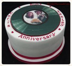 https://flic.kr/p/siFgdu | Vinyl Record Cake Topper Ruby Wedding picture Celebration Cake