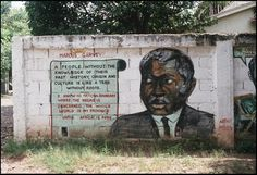 Jamaica Jahmaica -Marcus Garvey (1990)  Mural, 56 Hope Road, Kingston, Jamaica