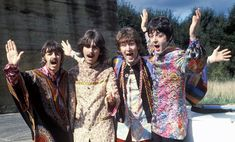 The Beatles, Men's 1960s 1970s Hippie fashion clothing