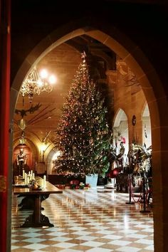 Warwick Castle at Christmas.