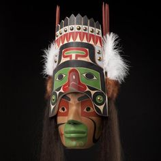 I-kish Nulthma Mask by Joe David, Nuu-chah-nulth