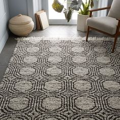 Concentric Circle Rug, Iron, 8'x10' at West Elm - Rugs - Home Decor - Floor Decor