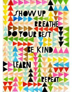 Show Up Art Print Lisa Congdon by lisacongdon on Etsy