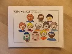Jesus' Apostles matching game. other site said to talk about why Jesus chose his apostles, qualities he would look for in a follower, and whether or not it would have been easy to be a follower of Jesus.   talk about how the apostles were just men. Human like us. They made mistakes just like we do, but Jesus never gives up on us. He is always with us and guiding us through out our lives.