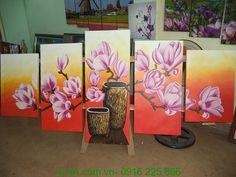Cẩm nang nghệ thuật và du lịch: Tranh sơn dầu hoa mộc lan Amia TSD 212