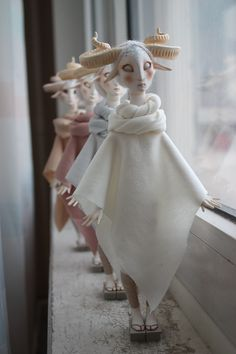 Fantasy | Whimsical | Strange | Mythical | Creative | Creatures | Dolls | Sculptures | ☥ | Fauns By Anna Egorova