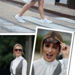 #LOOKdaMari no terceiro dia SPFW N41: tênis branco