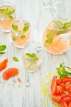 grapefruit and mint coolers