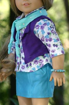 American Girl Doll Clothes FauxLeather by DollClosetHeirlooms