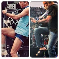 Bob Weir Grateful Dead then & now Dead Pictures, Dead Pics, Bob Weir, Some Things Never Change, Dead And Company, Grey Beards, Nothing's Changed, Forever Grateful, Grateful Dead