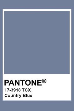 Pantone Country Blue Bleu Pantone, Paleta Pantone, Pantone Tcx, Pantone Swatches, Color Swatches, Pantone Colour Palettes, Pantone Color, Blue Colour Palette, Colour Schemes