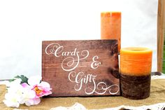 Wedding Sign, Cards and Gifts Sign, Rustic Wedding, Wood, Wedding Reception