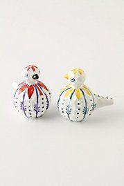 Adorable bird salt and pepper shaker set - Anthropologie    We have them at ooh La Loft for  $26 for set