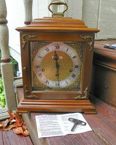 Vintage Seth Thomas Legacy Clock 3W 1321 00 Westminster Strike Chime Germany | eBay