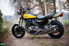 Modern triff auf Klassik. Umbau einer Kawasaki Z 1000 von Green Island Bikes..... http://www.green-island-bikes.de/