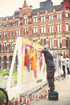 VESTIGES / ART DE RUE / NOTRE-DAME OUEST / MONTREAL 2014  Credits: Kelly Jacob #vestigesndo @Ashop #ashop #artderue #streetart #fantomesmontreal #montrealghosts #guidatour #vieuxmontreal #oldmontreal #ndo #notredameouest #ankhone